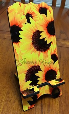 "Phone Stand - ""Sunflowers"""
