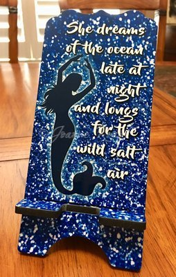 """Phone Stand - """"Mermaid Dreams"""""""
