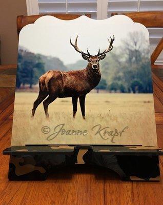 """Tablet / Cookbook Stand - """"Oh Deer!"""""""