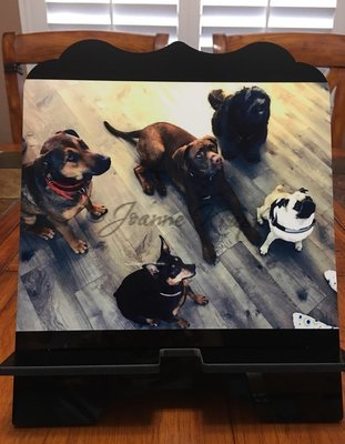 """Tablet / Cookbook Stand- """"Puppies!"""""""