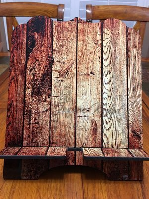"""Tablet / Cookbook Stand - """"Wood (Faux)"""""""