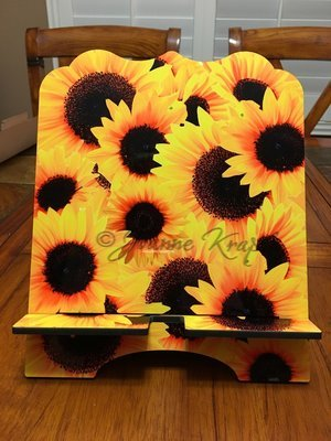 """Tablet / Cookbook Stand - """"Sunflowers"""""""
