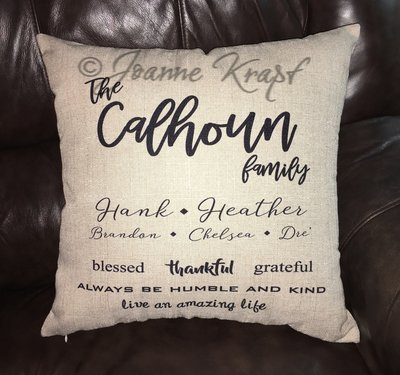 Personalized Family Square Pillow