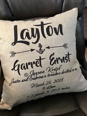 (Personalized) Baby Square Pillow