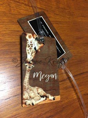 Luggage Tag - Giraffe