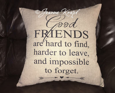 Good Friends Square Pillow