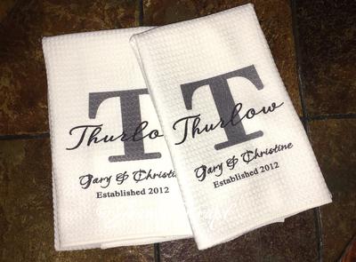 Microfiber Towels - Monogrammed