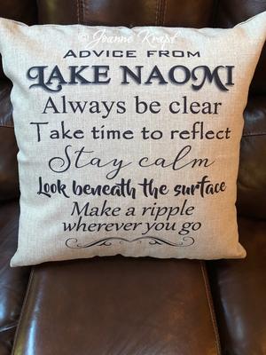 Lake Life Square Pillow (Personalized)