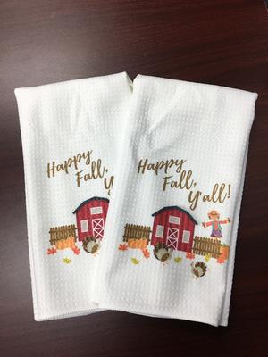 Microfiber Towels - Happy Fall Y'all