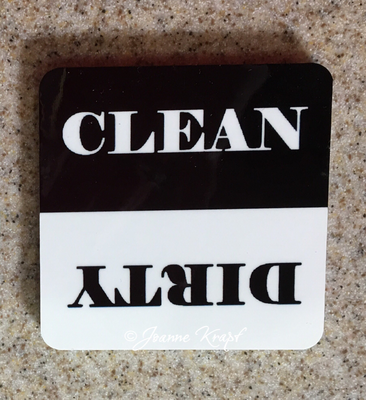 Magnet - Clean or Dirty 2 inch Square