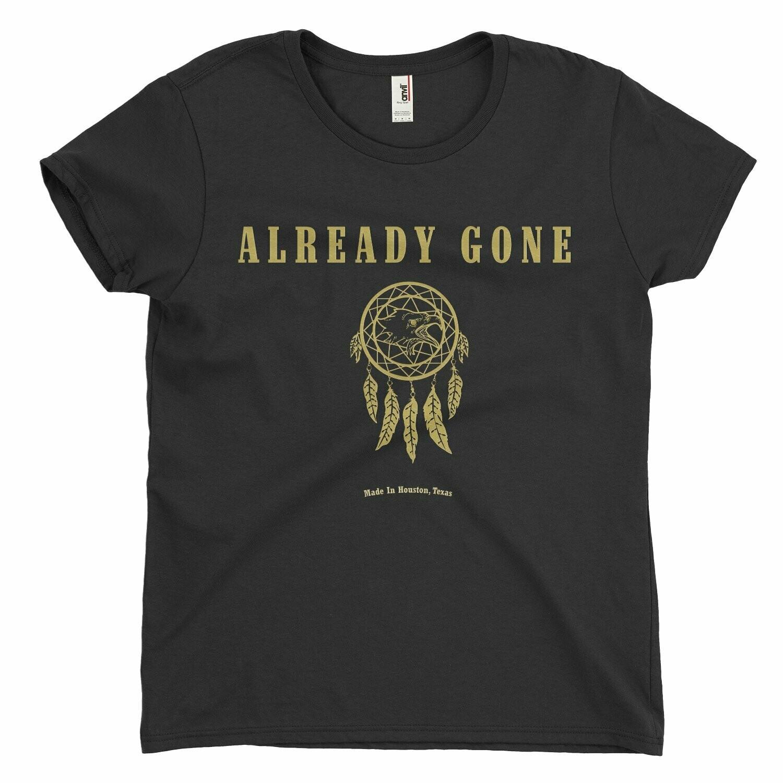 Womens Already Gone Gold Foil Logo Shirt