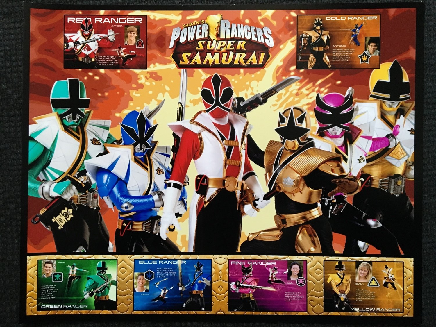 Signed (only by Steven) Super Samurai Power Rangers Morphed 8x10