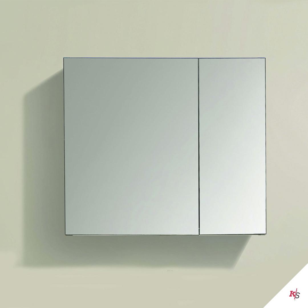 30″ Aluminum Medicine Cabinet with Mirror KS-MC7-3026