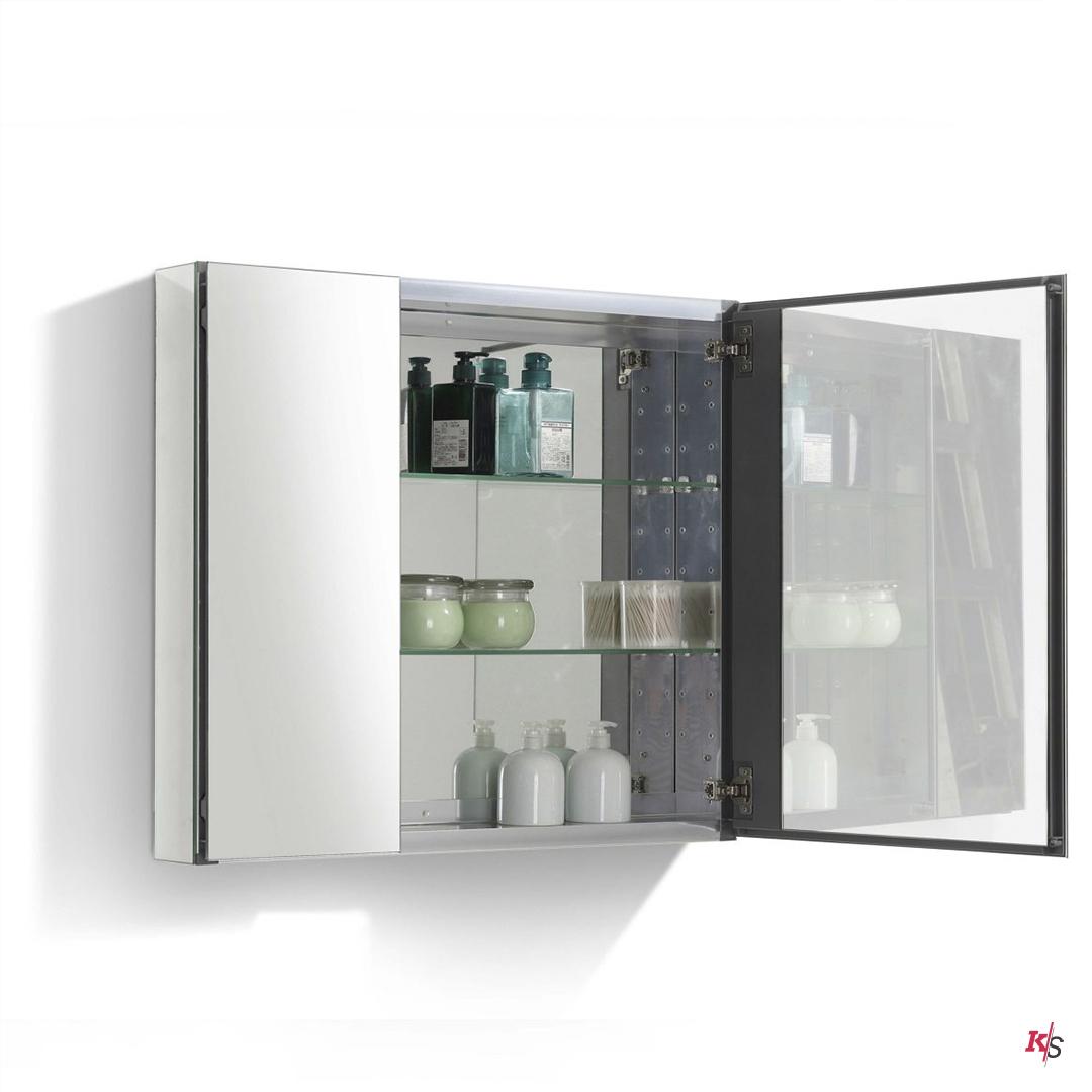 25″ Aluminum Medicine Cabinet with Mirror