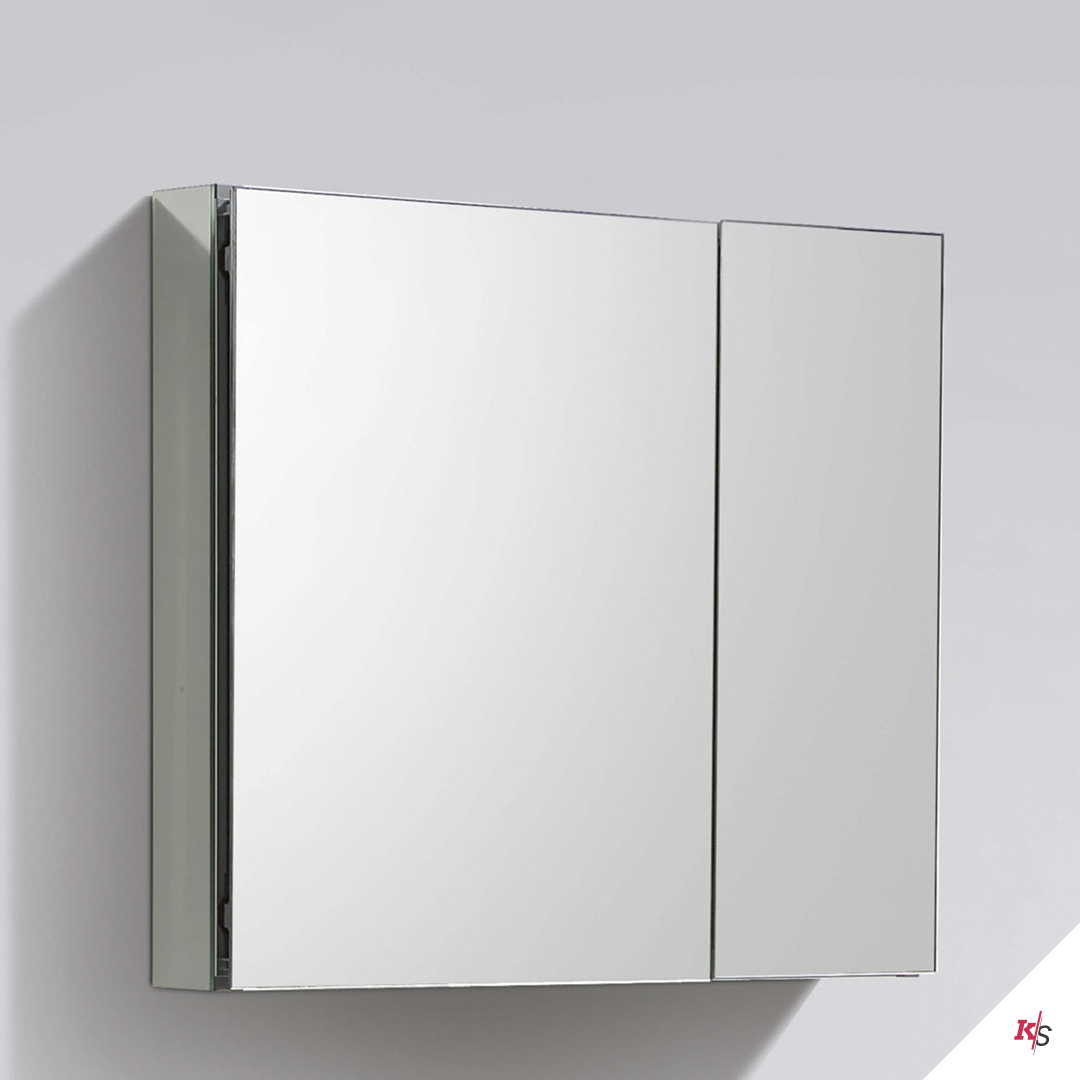 30″ Aluminum Medicine Cabinet with Mirror
