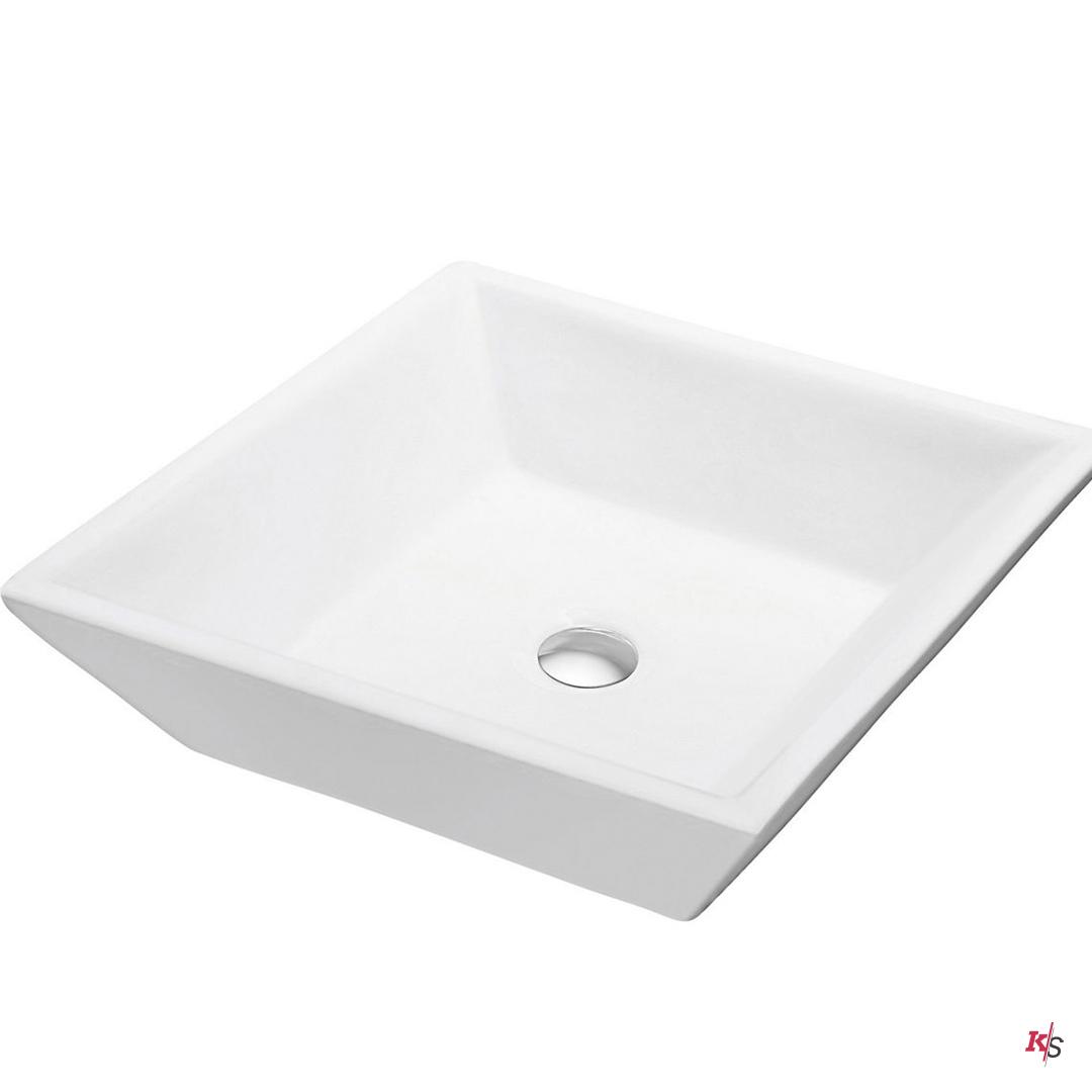 Vessel Ceramic Basin 16″ X 16″ Square KS-C04-1616
