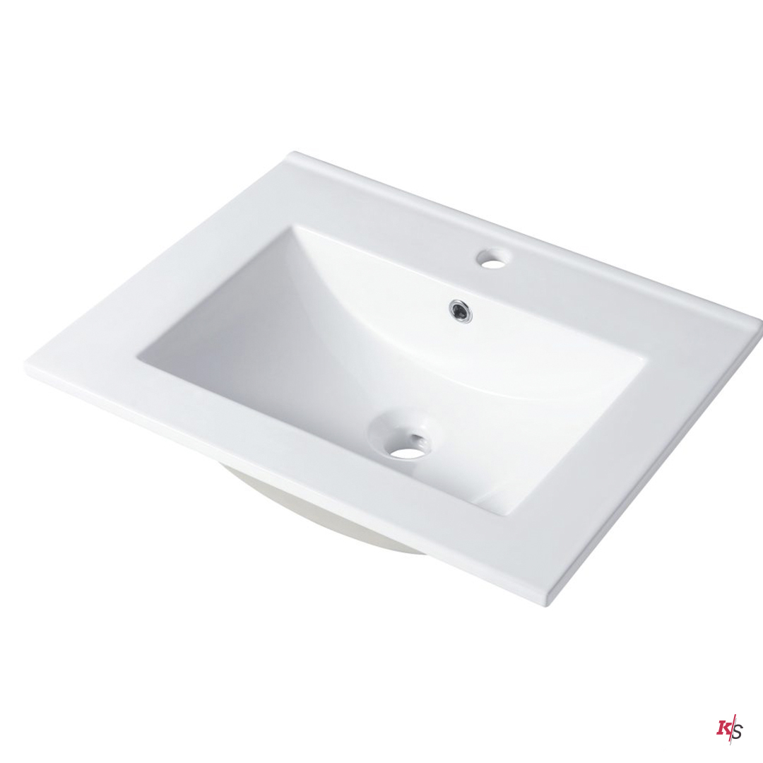 Ceramic Basin 20″ X 18″ Top-Mount Square KS-C04-2018