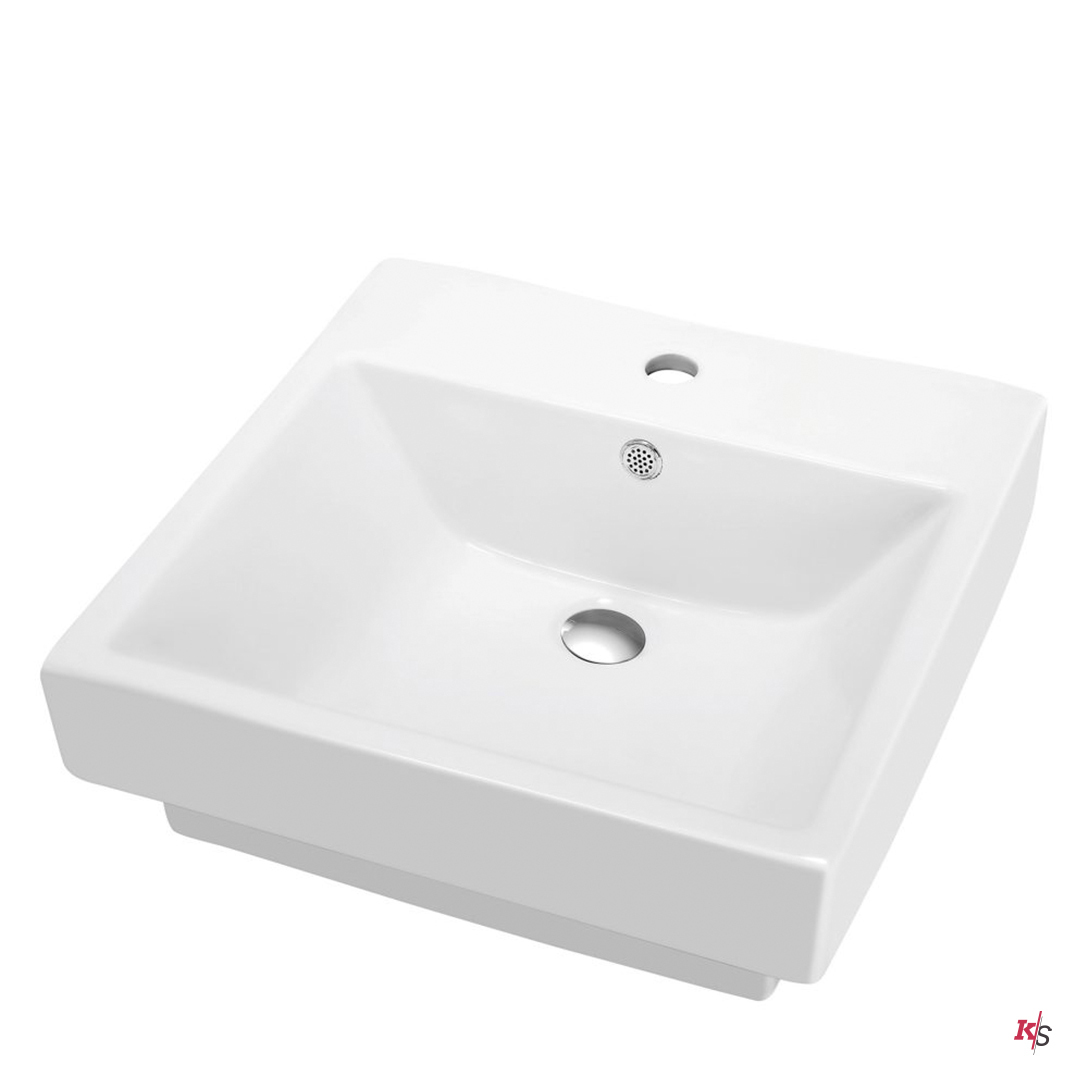 Ceramic Basin 20″ X 20″ Top-Mount Square KS-C04-2020