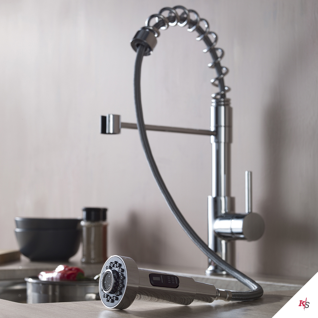 Single Handle Pull Out Kitchen Faucet