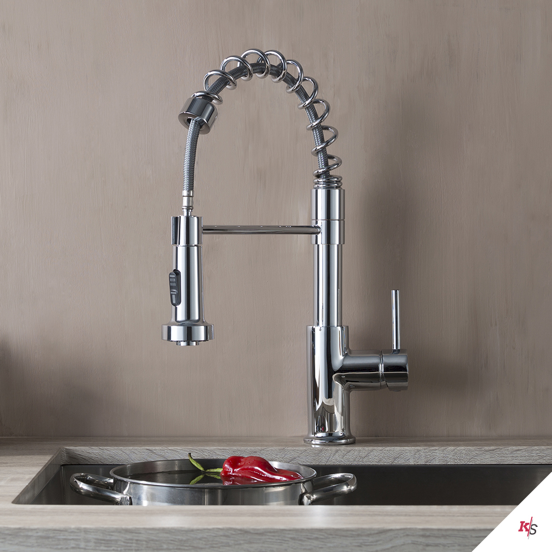 Single Handle Pull Out Kitchen Faucet KS-F01-205-01