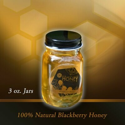 Camano Island Blackberry Honey 3oz Jars