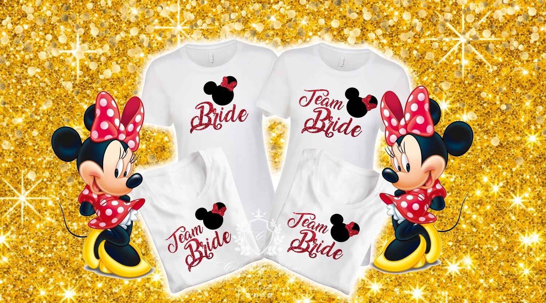 Minnie Mouse bride t-shirts