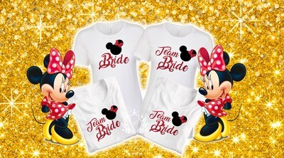 Minnie Mouse bride t-shirts