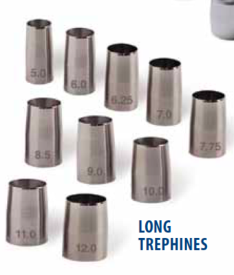 Surgistar Odd Sized Trephines 3mm to 14.5mm
