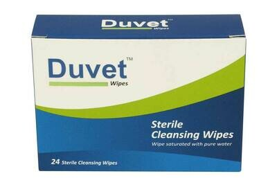Duvet Sterile Saline Wipes 24s Pack-Carton fo 60 boxes