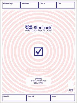 Sterichek Bowie Dick Sheet