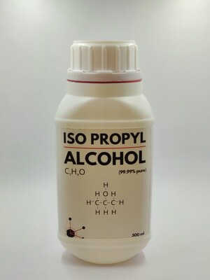 99.99% Iso Propyl Alcohol 500ml+100 Dry Non Woven Wipes Combo