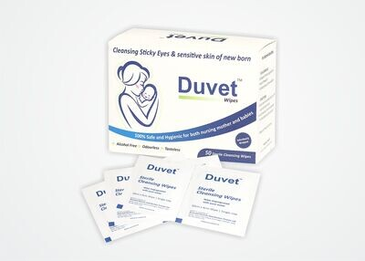 Duvet Sterile Wipes 50s. Pack of 2boxes. Retail