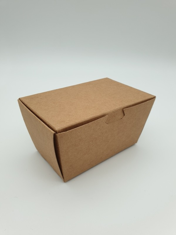 Box Truffle Large Kraft 90 x 50 x 55 mm (each)