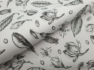 Bespoke Newsprint Reams 420 x 594 Vintage Flower Black (200 sht)