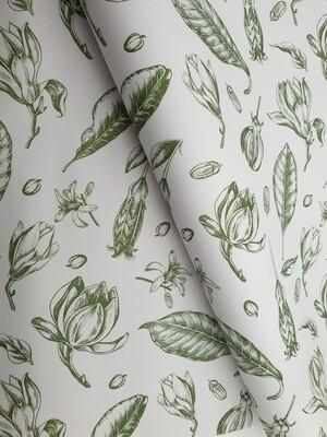 Bespoke Newsprint Reams 420 x 594 Vintage Flower Olive (200sht)