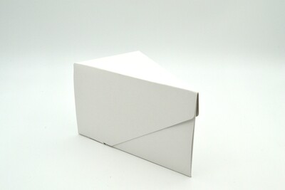Cake Box Single Slice - White (each)