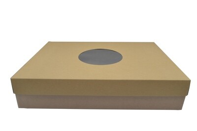 CupCake 24 Box Corrugated Base & Lid - Kraft (ea)