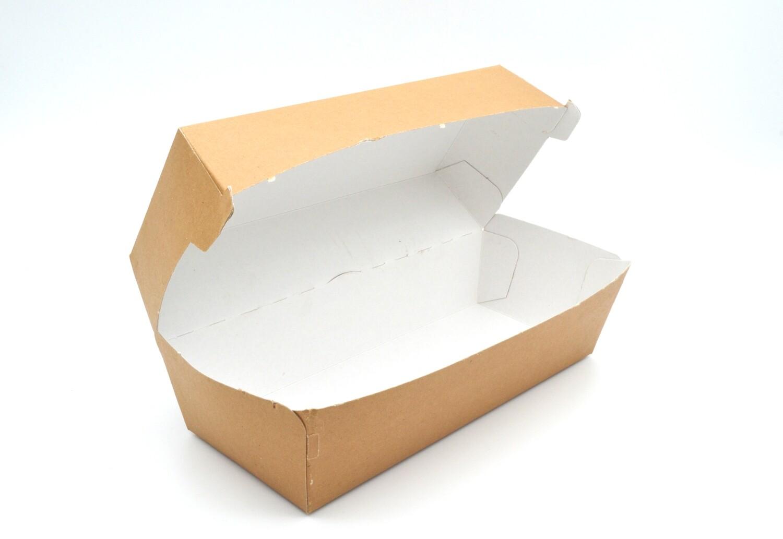 Box Clamshell Kraft - Hotdog  (Qty 50)