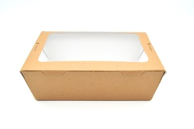 Box Meal Kraft + Window - Large (Qty 25)