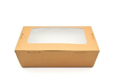 Box Meal Kraft + Window - Small  (Qty 50)