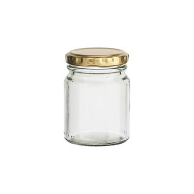 Glass Jar C Pickle 125 ml - Gold Lid (ea)