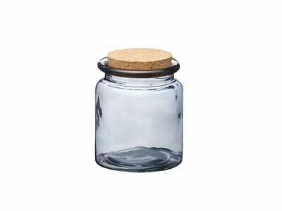 Smoked Glass Cork Lidded Storage Jar - Small