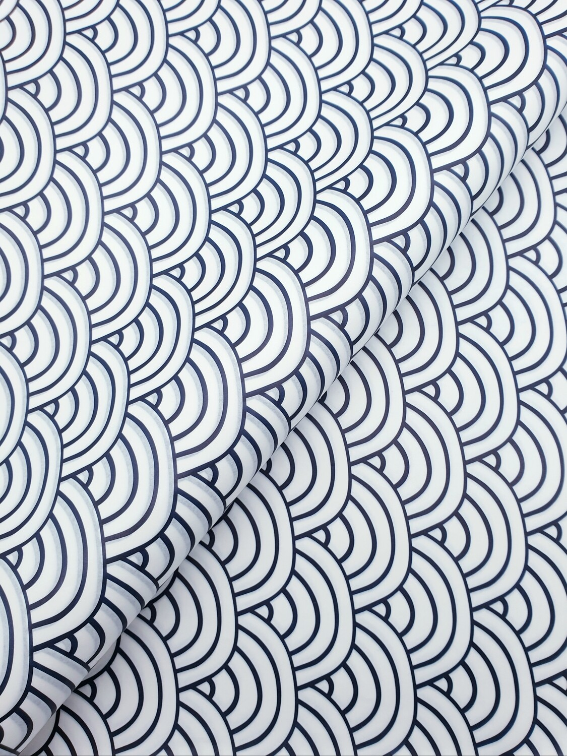 Tissue Paper -Waves - Navy On White (Qty 25)