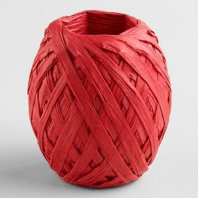 Raffia Paper 20m Red