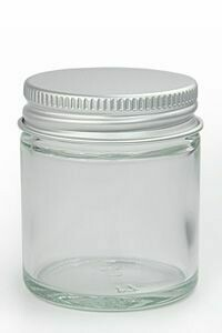 Glass Jar 100ml Ointment + Aluminium Lid (each)