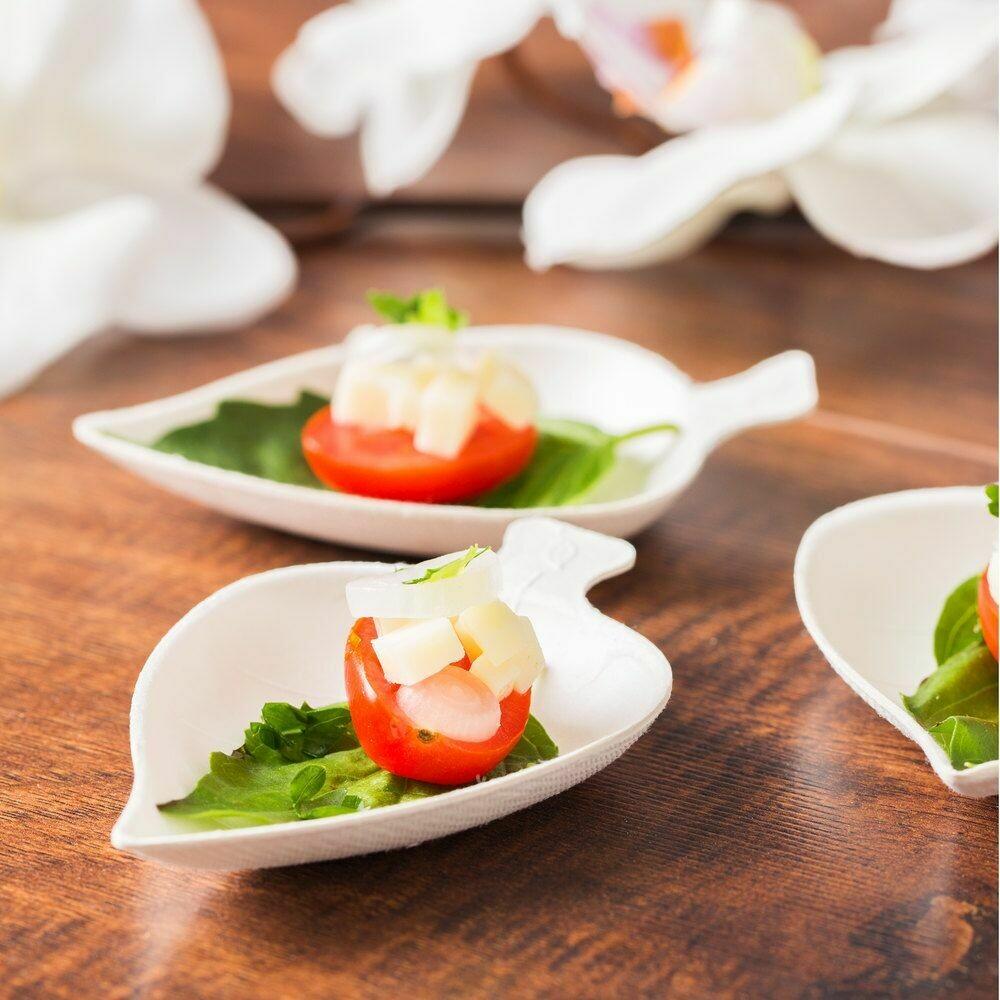 Bagasse Mini Leaf Dish