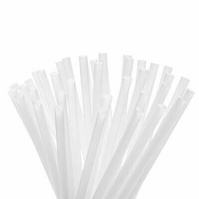 Bio Straws 6mm - Natural Wrapped (Qty100)