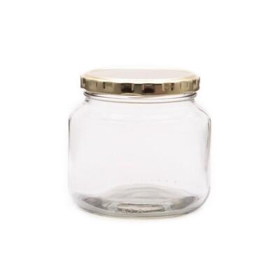 Glass Jar C Chutney 500ml (82 RTO) Gold Lid (ea)