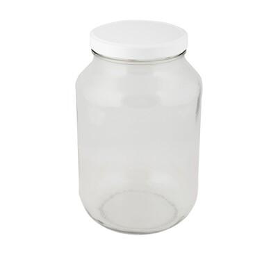 Glass Jar C Cater 3L (110 RTO) White Lid (ea)