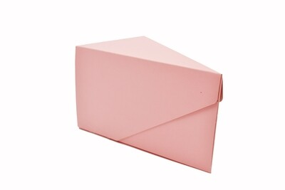 Cake Box Single Slice - Vintage Pink (ea)